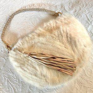 Paolo Masi Fur + Leather Handbag